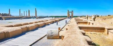 Οι καταστροφές αρχαίου Persepolis, Ιράν Στοκ Εικόνες
