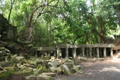 Οι καταστροφές ενός αρχαίου ναού, Καμπότζη Στοκ εικόνα με δικαίωμα ελεύθερης χρήσης
