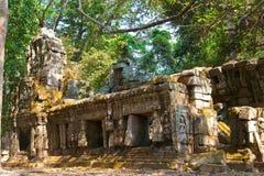 Οι καταστροφές ενός μικρού ναού στο ναό σύνθετο Angkor Wat, Siem συγκεντρώνουν, Καμπότζη Στοκ Εικόνα