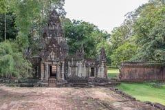 Οι καταστροφές πίσω από το πεζούλι των ελεφάντων σε Angkor, Siem συγκεντρώνουν, Καμπότζη λ Στοκ φωτογραφία με δικαίωμα ελεύθερης χρήσης