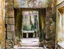 Οι καταστροφές πίσω από το πεζούλι των ελεφάντων σε Angkor, Siem συγκεντρώνουν, Καμπότζη λ Στοκ φωτογραφίες με δικαίωμα ελεύθερης χρήσης
