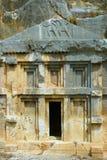 Οι καταστροφές της αρχαίας πόλης της Mira είναι τα κεφάλαια του βασίλειου Lycian στοκ εικόνες