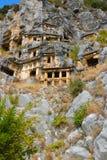 Οι καταστροφές της αρχαίας πόλης της Mira είναι τα κεφάλαια του βασίλειου Lycian στοκ φωτογραφίες