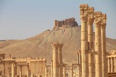 Οι καταστροφές της αρχαίας πόλης Palmyra, Συρία Στοκ Εικόνες