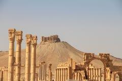 Οι καταστροφές της αρχαίας πόλης Palmyra, Συρία Στοκ Φωτογραφία