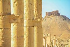 Οι καταστροφές της αρχαίας πόλης Palmyra, Συρία Στοκ Εικόνα