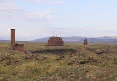 Οι καταστροφές της αρχαίας πόλης Ani Στοκ Εικόνα