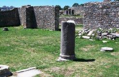 Οι καταστροφές της ρωμαϊκής αρχαίας πόλης - Salona Στοκ εικόνα με δικαίωμα ελεύθερης χρήσης