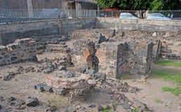 Οι καταστροφές της ρωμαϊκής περιόδου στην Κατάνια Στοκ Φωτογραφία