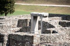 Οι καταστροφές της ρωμαϊκής πόλης Aquincum στη Βουδαπέστη Στοκ φωτογραφία με δικαίωμα ελεύθερης χρήσης