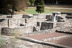Οι καταστροφές της ρωμαϊκής πόλης Aquincum στη Βουδαπέστη Στοκ Εικόνες