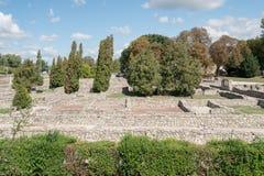 Οι καταστροφές της ρωμαϊκής πόλης Aquincum στη Βουδαπέστη Στοκ Εικόνα
