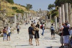 Οι καταστροφές της ρωμαϊκής πόλης Ephes, στην Τουρκία Στοκ Φωτογραφίες