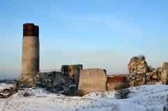 Οι καταστροφές του κάστρου σε Olsztyn στοκ εικόνες