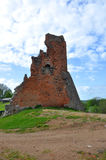 Οι καταστροφές του κάστρου στην πόλη Novogrudok belatedness Στοκ Εικόνες
