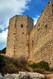 Οι καταστροφές του μεσαιωνικού φρουρίου των ιπποτών Στοκ φωτογραφία με δικαίωμα ελεύθερης χρήσης