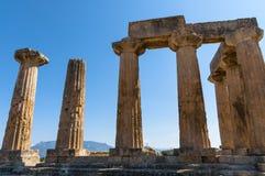Οι καταστροφές του ναού σε αρχαίο Corinth Στοκ φωτογραφία με δικαίωμα ελεύθερης χρήσης