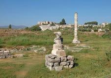 Οι καταστροφές του ναού της Artemis είναι στην Τουρκία Στοκ εικόνα με δικαίωμα ελεύθερης χρήσης