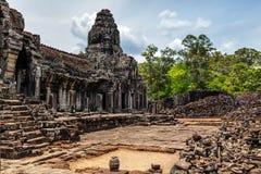Οι καταστροφές του ναού Angkor Thom Στοκ Φωτογραφίες