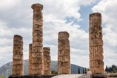 Ναός των Δελφών Ελλάδα Στοκ Φωτογραφίες