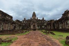 Οι καταστροφές του ναού Bakong, Καμπότζη Στοκ Φωτογραφίες