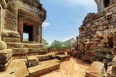 Οι καταστροφές του ναού TA Keo σε αρχαίο Angkor, Siem συγκεντρώνουν, Καμπότζη Στοκ Φωτογραφία