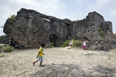 Οι καταστροφές του ολλανδικού οχυρού στο νησί του Ντελφτ στην περιοχή Jaffna της βόρειας Σρι Λάνκα Στοκ Εικόνες
