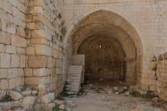 Οι καταστροφές του φρουρίου σταυροφόρων στοκ εικόνα