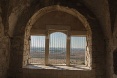 Οι καταστροφές του φρουρίου σταυροφόρων στοκ εικόνες