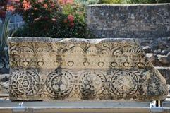 Οι καταστροφές Capernaum Στοκ Εικόνες