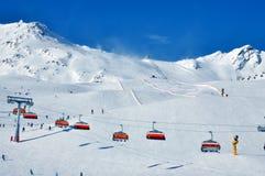 οι κλίσεις σκι Στοκ Εικόνες