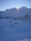 Οι κλίσεις σκι ST-anton στην περιοχή arlberg Στοκ εικόνες με δικαίωμα ελεύθερης χρήσης