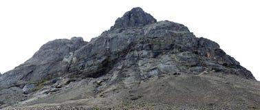 Οι κορυφές των βουνών, του Khibiny και του νεφελώδους ουρανού Κόλα Peninsu Στοκ Εικόνα