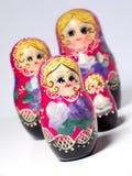 οι κούκλες τοποθετήθηκαν τα ρωσικά Στοκ εικόνα με δικαίωμα ελεύθερης χρήσης