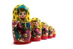 οι κούκλες τοποθετήθηκαν τα ρωσικά Στοκ Εικόνα