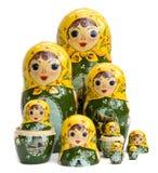 οι κούκλες τοποθετήθη&ka Στοκ Εικόνες