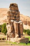 Οι κολοσσοί Memnon στην Αίγυπτο Στοκ Εικόνες