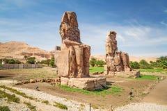 Οι κολοσσοί Memnon στην Αίγυπτο Στοκ εικόνα με δικαίωμα ελεύθερης χρήσης