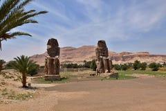 Οι κολοσσοί Memnon Στοκ Φωτογραφίες