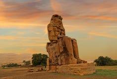 Οι κολοσσοί Memnon, Luxor, Αίγυπτος Στοκ εικόνες με δικαίωμα ελεύθερης χρήσης