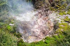 Οι κρατήρες του φεγγαριού είναι ένας γεωθερμικός περίπατος που βρίσκεται ακριβώς βόρεια Taupo στοκ φωτογραφίες με δικαίωμα ελεύθερης χρήσης