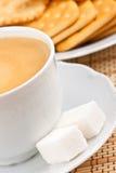 οι κροτίδες καφέ κοιλαί&nu Στοκ φωτογραφία με δικαίωμα ελεύθερης χρήσης