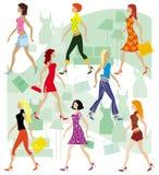 οι κυρίες ψωνίζουν Στοκ φωτογραφία με δικαίωμα ελεύθερης χρήσης