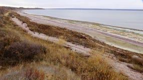 Οι κλίσεις της εκβολής Tylihul ακτών Στοκ Εικόνες