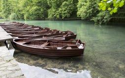 οι λίμνες κληρονομιάς της Κροατίας εμφανίζουν λίστα τον εθνικό κόσμο της ΟΥΝΕΣΚΟ plitvice πάρκων Στοκ Εικόνες