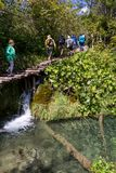 οι λίμνες κληρονομιάς της Κροατίας εμφανίζουν λίστα τον εθνικό κόσμο της ΟΥΝΕΣΚΟ plitvice πάρκων στοκ φωτογραφία