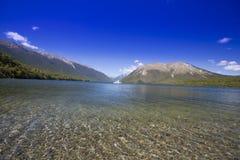 Οι λίμνες του Nelson, Νέα Ζηλανδία στοκ εικόνα