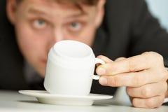 οι λόγοι καφέ επιχειρημα& Στοκ Φωτογραφίες