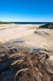 οι λόφοι στρώνουν με άμμο τ& Στοκ Εικόνες