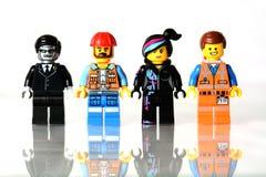 Οι μίνι αριθμοί κινηματογράφων lego Στοκ εικόνα με δικαίωμα ελεύθερης χρήσης